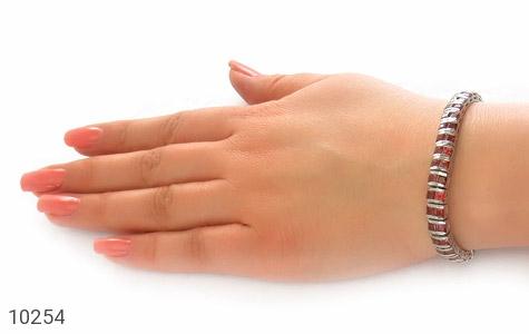 دستبند یاقوت گارنت خوش رنگ مرغوب زنانه - تصویر 6