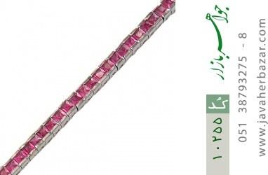 دستبند نقره نگین درخشان زنانه - کد 10255