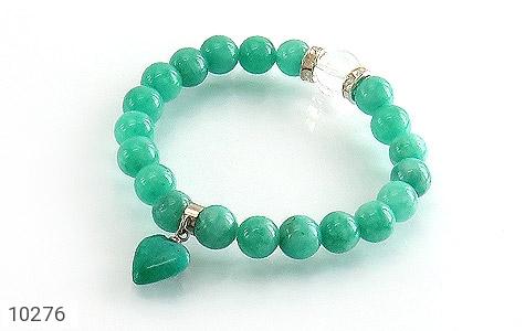 دستبند جید زیبا آویز طرح قلب زنانه - عکس 1