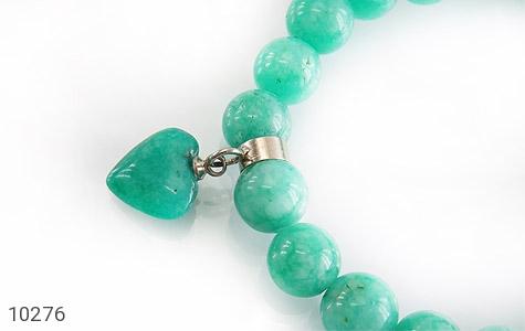 دستبند جید زیبا آویز طرح قلب زنانه - تصویر 2
