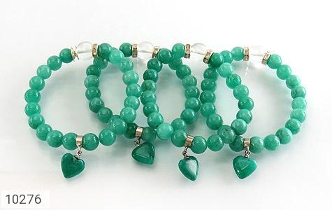 دستبند جید زیبا آویز طرح قلب زنانه - عکس 3