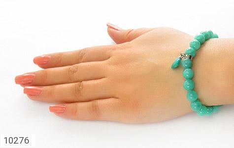 دستبند جید زیبا آویز طرح قلب زنانه - عکس 5