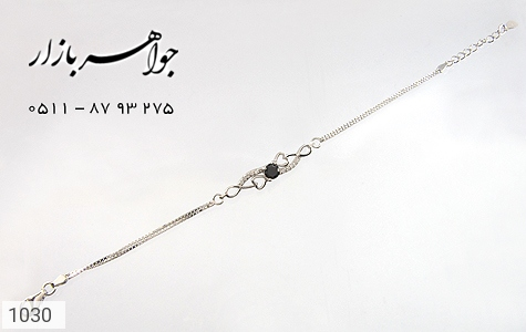 دستبند نقره آب رودیوم طرح قلب زنانه - عکس 3