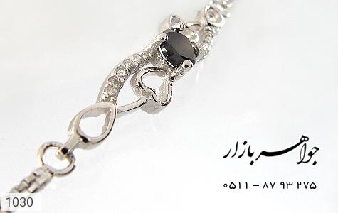 دستبند نقره آب رودیوم طرح قلب زنانه - تصویر 4