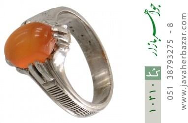 انگشتر عقیق یمن حکاکی شرف الشمس رکاب دست ساز - کد 10310