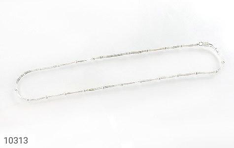 زنجیر نقره 40 سانتی سنگین طرح نقطه خط زنانه - تصویر 2