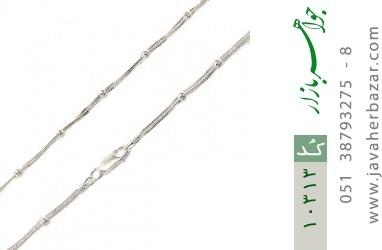 زنجیر نقره 40 سانتی سنگین طرح نقطه خط زنانه