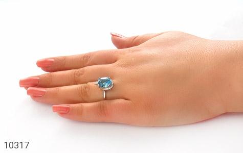 انگشتر توپاز جذاب طرح روشنا زنانه - عکس 7