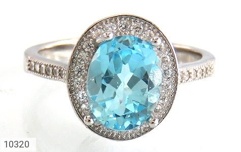 انگشتر توپاز آبی جذاب طرح یکتا زنانه - تصویر 2