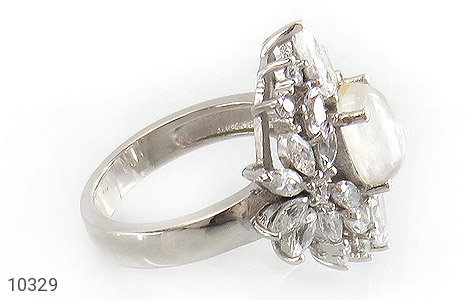 انگشتر دُر نجف جواهرنشان زنانه - عکس 3