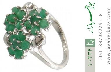 انگشتر زمرد درشت طرح بهار زنانه - کد 10336
