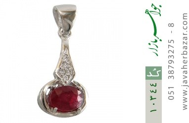 مدال یاقوت سرخ طرح پاندولی زنانه - کد 10344