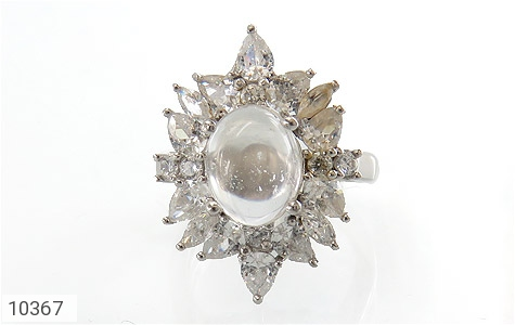 انگشتر دُر نجف طرح جواهر زنانه - عکس 3
