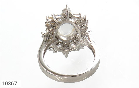 انگشتر دُر نجف طرح جواهر زنانه - تصویر 4