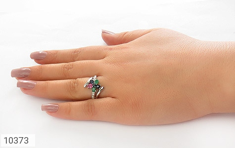 انگشتر یاقوت و زمرد درخشان طرح نازنین زنانه - عکس 7