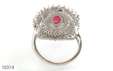 انگشتر یاقوت سرخ طرح خورشید زنانه - تصویر 4