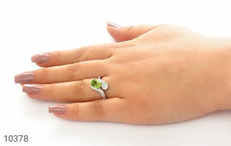 انگشتر زبرجد خوش رنگ زنانه - عکس 7