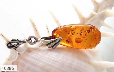 مدال کهربا بولونی لهستان عسلی رنگ زنانه - تصویر 4