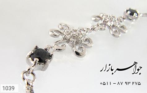 دستبند نقره آب رودیوم طرح گل زنانه - تصویر 4