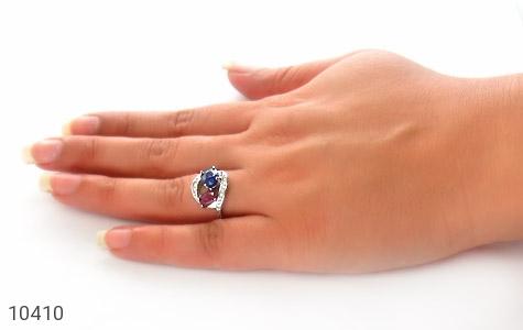 انگشتر یاقوت سرخ و کبود زنانه - عکس 7