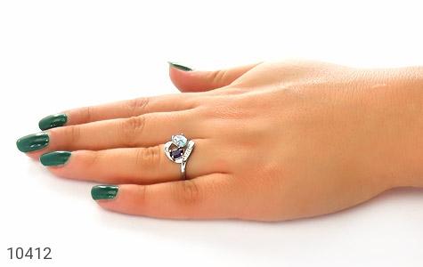 انگشتر توپاز و آمتیست طرح فرناز زنانه - عکس 7