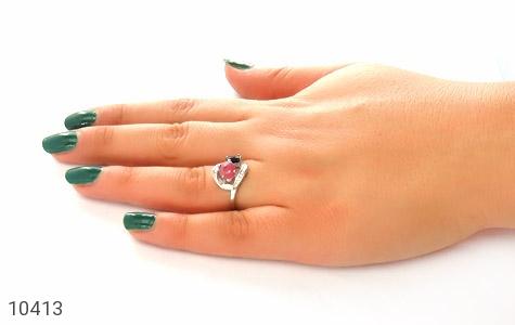 انگشتر یاقوت کبود و سرخ زنانه - عکس 7