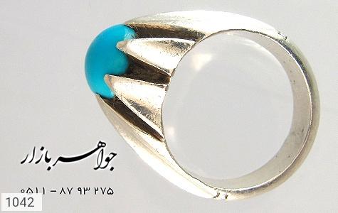 انگشتر فیروزه نیشابوری لوکس رکاب دست ساز - عکس 3