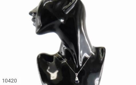مدال یاقوت کبود طرح آونگ زنانه - عکس 7