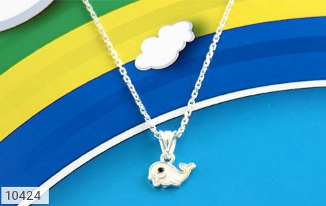 سرویس نقره طرح دلفین همراه زنجیر بچه گانه - تصویر 8