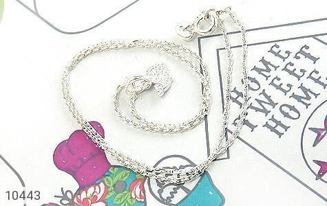 سرویس نقره همراه زنجیر طرح دلفین آبی بچه گانه - عکس 5