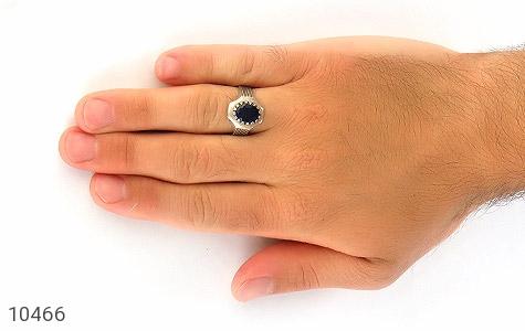انگشتر یاقوت کبود خوش رنگ مردانه - عکس 7