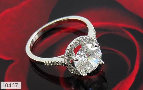 انگشتر نقره الماس نشان زنانه - عکس 5
