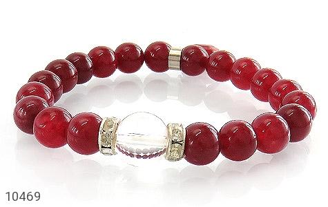 دستبند جید قرمز آویز قلب زنانه - تصویر 2
