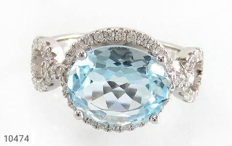 سرویس توپاز آبی درشت طرح جواهر زنانه - تصویر 2