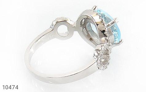 سرویس توپاز آبی درشت طرح جواهر زنانه - عکس 3