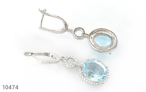 سرویس توپاز آبی درشت طرح جواهر زنانه - تصویر 6