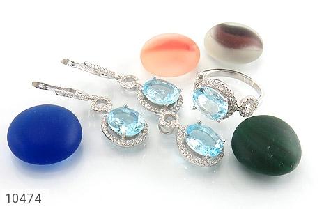 سرویس توپاز آبی درشت طرح جواهر زنانه - عکس 7