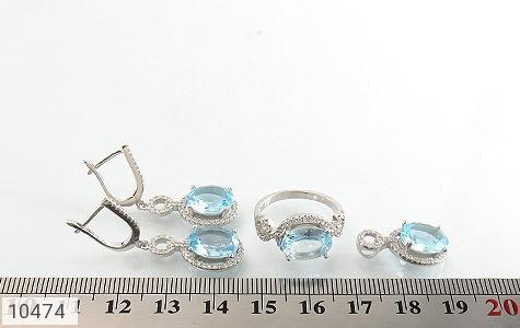 سرویس توپاز آبی درشت طرح جواهر زنانه - تصویر 8