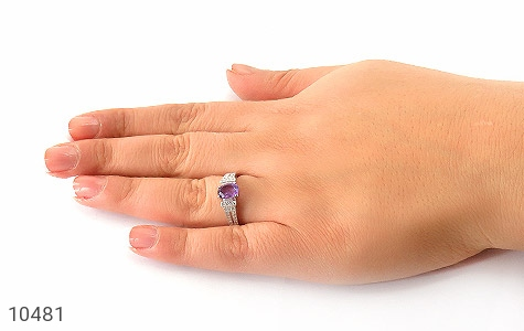 انگشتر آمتیست طرح ارمغان زنانه - عکس 7