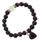 دستبند جید آویز قلب زنانه کد 10484