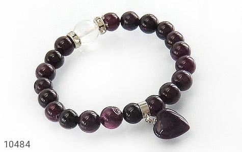 دستبند جید آویز قلب زنانه - عکس 1
