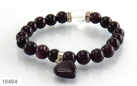 دستبند جید آویز قلب زنانه - تصویر 2