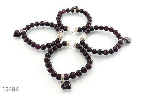 دستبند جید آویز قلب زنانه - عکس 3