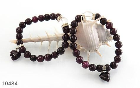 دستبند جید آویز قلب زنانه - تصویر 4