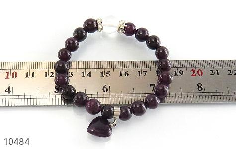 دستبند جید آویز قلب زنانه - عکس 5