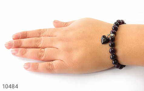 دستبند جید آویز قلب زنانه - تصویر 6