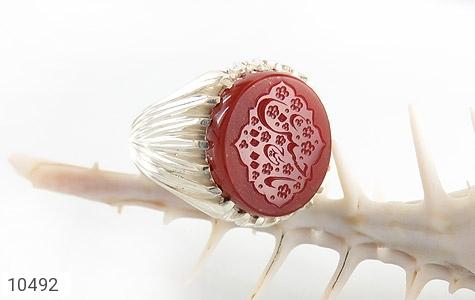 انگشتر عقیق یمن حکاکی یا حسین ع استاد حیدر هنر دست استاد سیدی - عکس 5