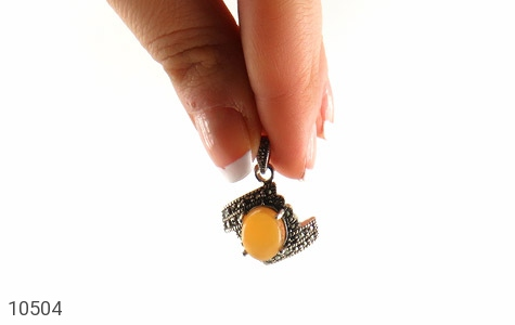 مدال مارکازیت و عقیق یمن حکاکی شرف الشمس - تصویر 6