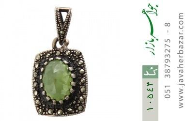 مدال زبرجد و مارکازیت زنانه - کد 10543