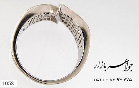 انگشتر نقره آب رودیوم سفید زنانه - تصویر 2